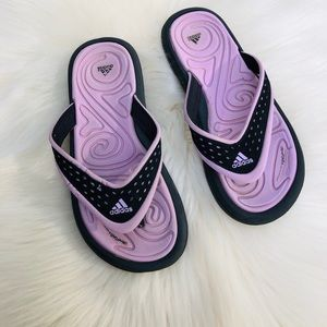Adidas Girls Purple Black Flip Flops Sandals